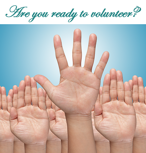 Are you ready to become a volunteer?